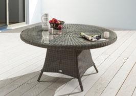 Destiny Gartentisch Luna 120 cm Vintage Grau Tisch Polyrattan Geflechttisch Esstisch