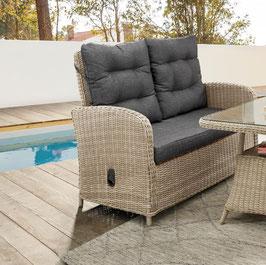 Destiny 2er Gartenbank Merano Natur Meliert Gartensofa Polyrattan Sofa