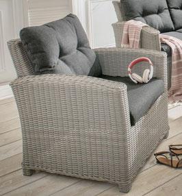 Destiny Loungesessel Riviera Vintage Weiß Sessel Gartensessel Sofasessel Geflechtsessel
