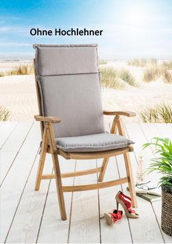 Destiny Pro Auflage für Hochlehner Sand Klappsessel Polsterauflage Polster für Sessel - Ohne Hochlehner -