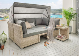 Destiny Loungegruppe Aruba Lounge Insel Loungeliege Sofaset Vario Sofainsel