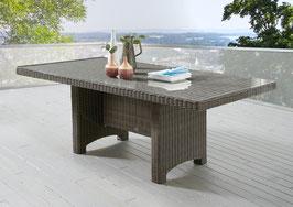 Destiny Gartentisch LUNA Vintage Grau Tisch 200 x 100 cm Polyrattan Geflechttisch