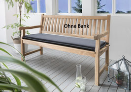 Destiny Bankpolster 120 cm Grau Auflage für Gartenbank  Polster mit Stehsaum - Ohne Bank -