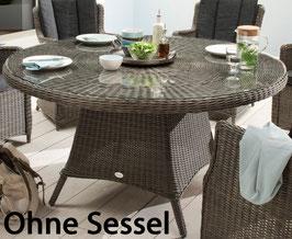 Destiny Gartentisch Luna 150 cm Tisch Polyrattan Geflechttisch Esstisch - Ohne Drehtablett