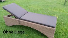 DESTINY Luxe Auflage Bolivar Vinico Anthrazit Struktur für Sonnenliege Relaxliege - Ohne Liege -