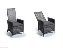 2er Set Destiny Sessel Komfortsessel Santos Hochlehner Verstellsessel Polyrattan
