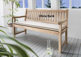 Destiny Bankpolster 150 cm Natur Auflage für Gartenbank Polster mit Stehsaum - Ohne Bank -