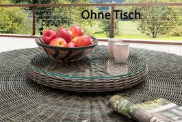 Destiny Drehteller Lazy Susann Vintage Grau Drehtisch Polyrattan für Luna Tisch - Ohne Tisch -