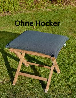 DESTINY Auflage für Hocker Anthrazit Polster Kissen Klappsessel Auflage für Hocker - Ohne Hocker -