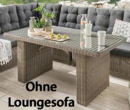 Destiny Loungetisch Riviera 140 x 80 Vintage Grau Lounge Tisch Dininglounge Gartentisch - Ohne Lounge
