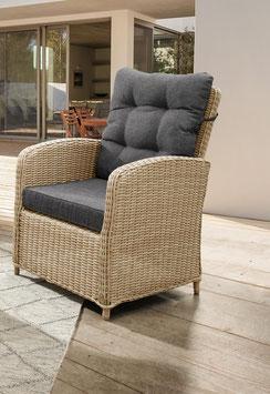 Destiny Loungesessel Merano Natur Meliert Gartensessel Polyrattan Sessel