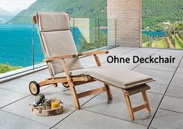 DESTINY Premium Auflage Sand Meliert Struktur für Deckchair / Relaxliege - Ohne Deckchair