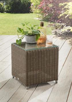 Kunstfaser Kubus Tisch Cubus Auckland Beistelltisch 45 x 45 cm Sempulut