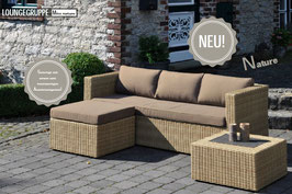 Inko Lounge Mito Loungeset Natur Loungegruppe Polyrattan Gartenmöbelset