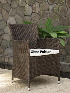 Destiny Sessel Auckland Bronze Geflechtsessel Polyrattan Gartensessel ohne Kissen