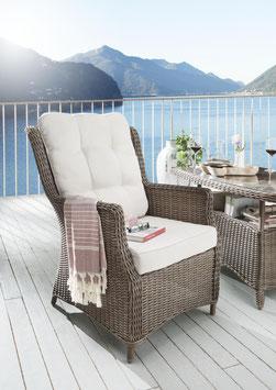 Destiny Sessel Casa Vintage Braun Loungesessel Gartensessel Polyrattan Sofasessel