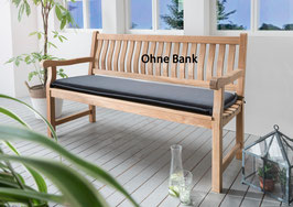 Destiny Bankpolster 130 cm Anthrazit Auflage für Gartenbank Polster mit Stehsaum - Ohne Bank -