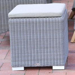 Destiny Kubus Harper Island Hocker Tisch Beistelltisch Polyrattan Grau