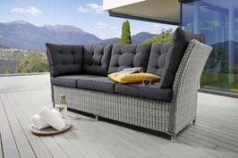 Destiny 3er Loungesofa Palma Vintage grau Lounge Sofa Bank Gartensofa