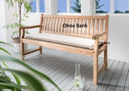 Destiny Bankpolster 110 cm Natur Auflage für Gartenbank Polster mit Stehsaum - Ohne Bank -