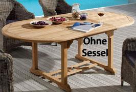 Gartentisch Destiny Tisch Four Seasons Teaktisch 180/240 Ausziehtisch Esstisch