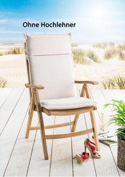 Destiny Pro Auflage für Hochlehner Natur Klappsessel Polsterauflage Polster für Sessel - Ohne Hochlehner -
