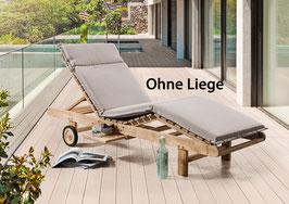 DESTINY Auflage Sand für Sonnenliege / Relaxliege - Ohne Liege -