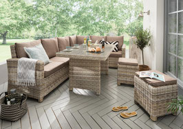 Destiny Loungegruppe Alcudia Mixed Beige Lounge Garnitur Dininglounge