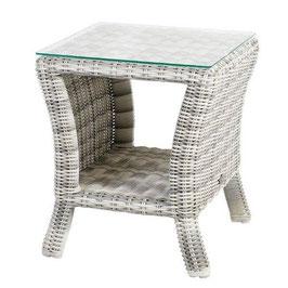 Diamond Garden Tisch Granada Beistelltisch Gartentisch Offwhite Polyrattan