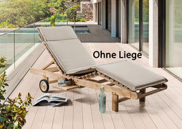 DESTINY Liege Auflage Sand Meliert für  Sonnenliege / Relaxliege - Ohne Liege -
