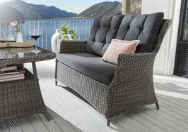 Destiny Loungesofa Casa Lounge Sofa Bank Gartensofa Polyrattan Vintage grau
