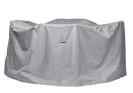 Premium Schutzhülle Sitzgruppe Gartenmöbelset Schutzhaube Hülle Haube Grau Rund 320 cm