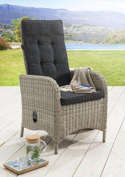 Destiny 2er Set Hochlehner Sessel Palma Vintage Weiß Komfortsessel Gartensessel