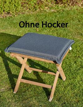 DESTINY Auflage für Hocker Grau Polster Kissen Klappsessel Auflage für Hocker - Ohne Hocker -