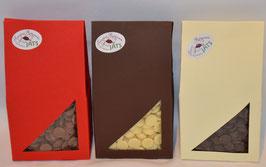 Trinkschokolade in Zartbitter, Vollmilch oder Weißer Schokolade