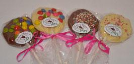 Schokoladen Lollis in Vollmilch oder Weißer Schokolade