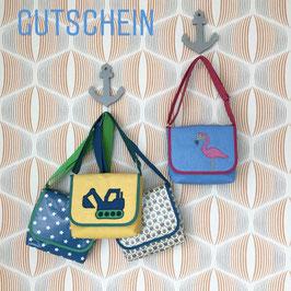 Gutschein für eine Kindergartentasche mit Wunschmotiv