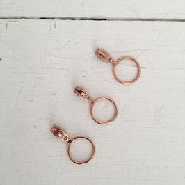 Zipper Ring groß / kupfer / 3mm