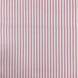 Baumwollstoff  Streifen rosa/weiß