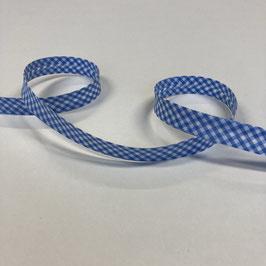 Schrägband Vichykaro, blau