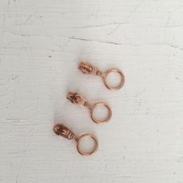 Zipper Ring klein / kupfer / 3mm