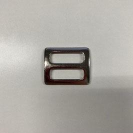 Schieber, silberfarben / eckig, 2,5cm