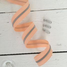 Reißverschluss 3mm /apricot