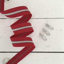 Reißverschluss 6mm / rot