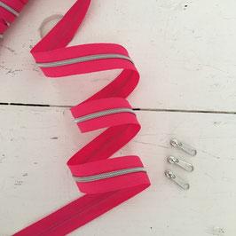 Reißverschluss 3mm /pink