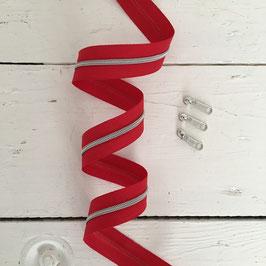 Reißverschluss 3mm /rot