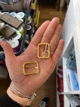 Schieber, goldfarben /  2,5cm