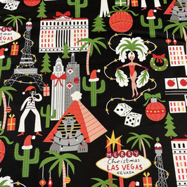 """Baumwollstoff """"Christmas in Las Vegas"""""""