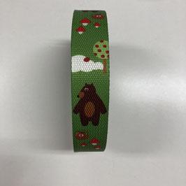 Gurtband Bär, 3cm breit