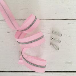 Reißverschluss 3mm /rosa